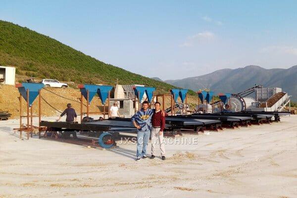 Вибрационный стол для установки обогащения хрома мощностью 5 т / ч в Албании