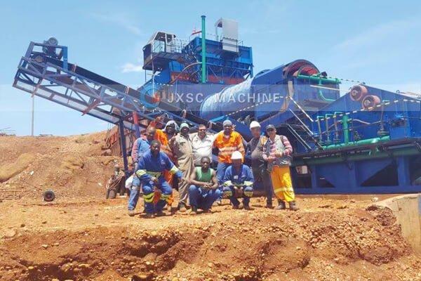 Продажа установки для мойки алмазов мощностью 200 т / ч в Анголе