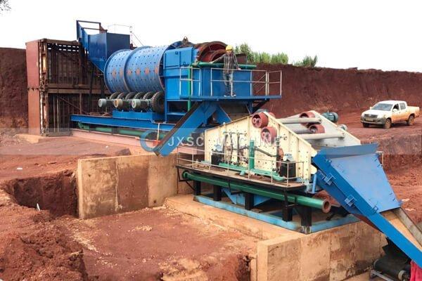 Завод по мойке алмазов мощностью 200 т / ч в Анголе