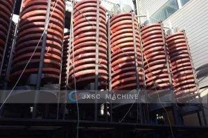 Korea 350Ttph tungsten mining and processing plant spiral separator