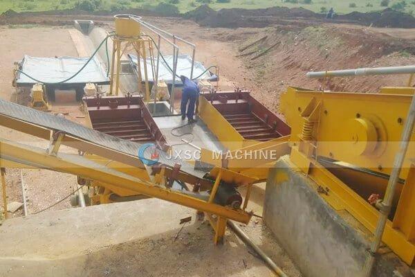 Уганда 100т / час завод по переработке аллувила-колтана на месте