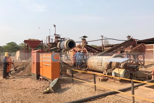 Zambia 100tph copper processing plant for sale