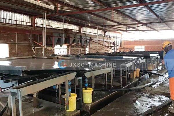 Zambia 100tph copper processing plant from jxsc
