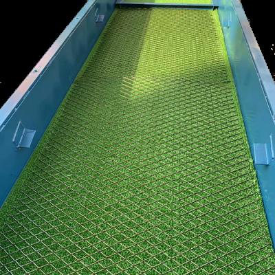 Шлюзовой ящик с ковриком для извлечения золота
