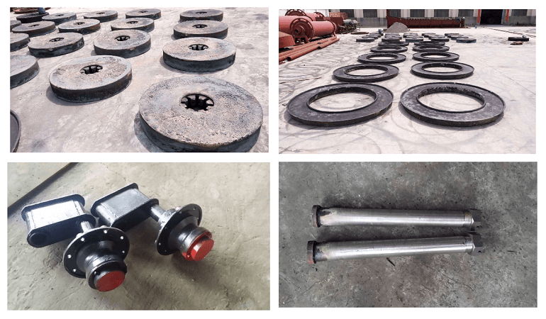 wet pan mill parts